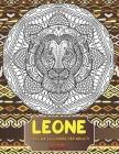 Libro da colorare per adulti - Rilassante - Animali - Leone Cover Image