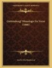 Guttemberg! Monologo En Verso (1866) Cover Image