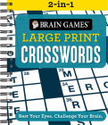 Brain Games 2-In-1 Large Print Crossword Puzzles Cover Image