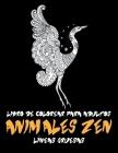 Libro de colorear para adultos - Líneas gruesas - Animales zen Cover Image