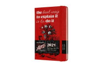 Moleskine 2021 Alice Wonderland Weekly Planner, 12M, Pocket, Cards, Hard Cover (3.5 x 5.5) Cover Image
