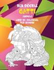 Zen Doodle - Libri da colorare per bambini - Animali - Gatti Cover Image