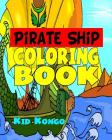 Pirate Ship Coloring Book Cover Image
