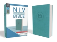 NIV, Value Thinline Bible, Large Print, Imitation Leather, Blue Cover Image