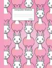 Llama Composition Notebook: College Ruled Book to write in for school, take notes, for kids, teens, students, teachers, homeschool, pink Cartoon A Cover Image