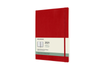 Moleskine 2021 Weekly Planner, 12M, Extra Large, Scarlet Red, Soft Cover (7.5 x 9.75) Cover Image