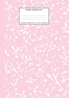 Marble Notebook A4: Pastel Pink College Ruled Journal Cover Image