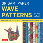 Origami Paper - Wave Patterns - 6 3/4 Inch - 48 Sheets: Tuttle Origami Paper: High-Quality Origami Sheets Printed with 8 Different Designs: Instructio Cover Image