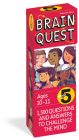 Brain Quest Grade 5, Revised 4th Edition: 1,500 Questions and Answers to Challenge the Mind Cover Image