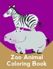 Zoo Animal Coloring Book: Creative haven christmas inspirations coloring book Cover Image