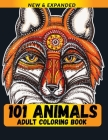 101 Animals Adult Coloring Book: For Best Gift for Adults and Grown Ups Cover Image