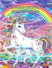 Unicorns Coloring Book for Girls 50 pages From 3 Years Old: Children's Drawing Book - unicorn coloring book for children - 1 page to write and 1 page Cover Image