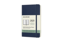 Moleskine 2021 Weekly Planner, 12M, Pocket, Sapphire Blue, Soft Cover (3.5 x 5.5) Cover Image