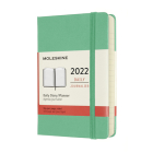 Moleskine 2022 Daily Planner, 12M, Pocket, Ice Green, Hard Cover (3.5 x 5.5) Cover Image
