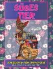 Malbücher für Erwachsene - Realistische Blumen und Tiere - Süßes Tier Cover Image