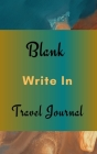 Blank Write In Travel Journal (Dark Green Brown Abstract Art Cover) Cover Image