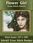 Flower Girl Cross Stitch Pattern Cover Image