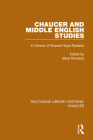 Chaucer and Middle English Studies: In Honour of Rossell Hope Robbins Cover Image