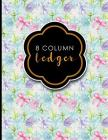 8 Column Ledger: Accounting Paper, Accounting Ledger Book, Bookkeeping Ledger Sheets, Hydrangea Flower Cover, 8.5 x 11, 100 pages Cover Image