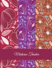 Medicine Tracker: Red Color Flowers Design, Daily Medicine Record Tracker 120 Pages Large Print 8.5