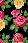 Password Book: Include Alphabetical Index With Red Rose Flower Seamless Pattern Cover Image