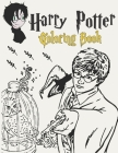 Harry-Potter Coloring Book: Magical Places And Characters Perfect Coloring Book For Kids And Adults The Best Way To Relax And Relieve Stress - Siz Cover Image