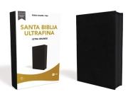 Reina Valera 1960 Santa Biblia Ultrafina Letra Grande, Piel Fabricada, Negro, Con Cierre, Interior a DOS Colores Cover Image