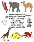 English-Romanian Bilingual Children's Picture Dictionary of Animals Cover Image