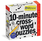 Mensa 10-Minute Crossword Puzzles Page-A-Day Calendar 2021 Cover Image