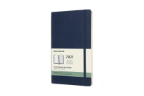 Moleskine 2021 Weekly Planner, 12M, Large, Sapphire Blue, Soft Cover (5 x 8.25) Cover Image