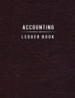 Accounting Ledger Book: 1 Year Weekly Planner, Black Leather Print, Calendar, Weekly Spreads, Goals, Vision Board Cover Image