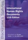 Blackstone's International Human Rights Documents (Blackstone's Statute) Cover Image