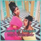 Cardi B - Megan Calendar: Cardi B 2020-2021 calendar 8.5 x 8.5 glossy paper Cover Image