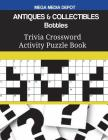 ANTIQUES & COLLECTIBLES Bottles Trivia Crossword Activity Puzzle Book Cover Image