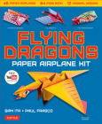 Flying Dragons Paper Airplane Kit: 48 Paper Airplanes, 64 Page Instruction Book, 12 Original Designs, Youtube Video Tutorials Cover Image