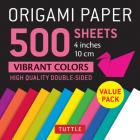 Origami Paper 500 Sheets Vibrant Colors 4