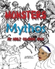 Monsters and Mythos, An Adult Coloring Book Cover Image