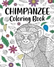 Chimpanzee Coloring Book Cover Image
