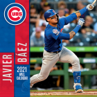 Chicago Cubs Javier Baez 2021 12x12 Player Wall Calendar Cover Image