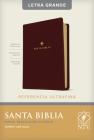Santa Biblia Ntv, Edición de Referencia Ultrafina, Letra Grande (Letra Roja, Sentipiel, Café Oscuro ) Cover Image