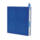 Lego 2.0 Locking Notebook with Gel Pen - Blue Cover Image