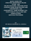Quick Guide for Creating Wordpress Online Store and Online Magazine, Creating EPUB E-books Using EPUB Editors and Converters, and Overview of Some Int Cover Image