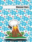 Dinosaur Stars: Grades K-2 with Picture Box Space and Dotted Midline Story Pages Cover Image