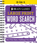 Brain Games 2-In-1 - Large Print Word Search: Rest Your Eyes. Challenge Your Brain. Cover Image