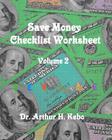 Save Money Checklist Worksheet - Volume 2 Cover Image