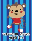 Coloring Books Ages 3-4: Stress Relieving Animal Designs Cover Image