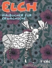 Malbücher für Erwachsene - Vintage Kunst - Tiere - Elch Cover Image