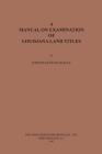 A Manual on Examination of Louisiana Land Titles Cover Image