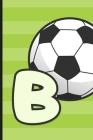 B: Soccer Monogram Letter B Initial Notebook - 6