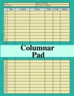 Columnar Pad: general ledger accounting book, sized:8.5x11,120 pages,6 columns and 27 ligne, for recording income & expenses Cover Image